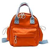 VECOLE Einfarbig mit großer Kapazität Wasserdichter Nylon-Freizeitrucksack Schultasche...