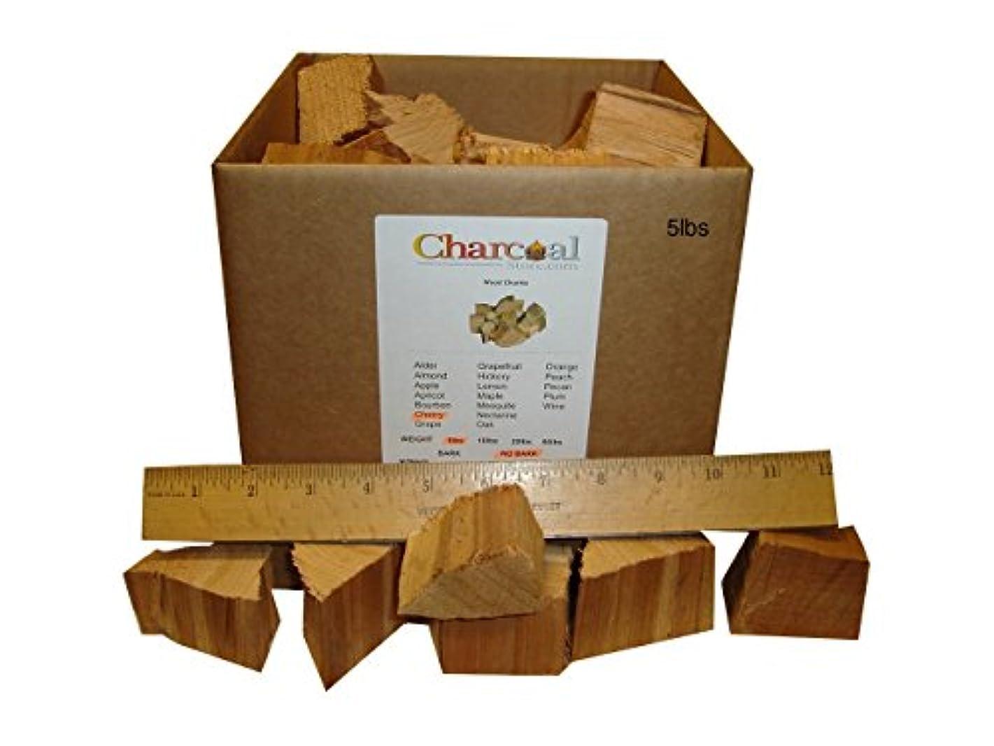 CharcoalStore Cherry Smoking Wood Chunks - No Bark (10 Pounds)