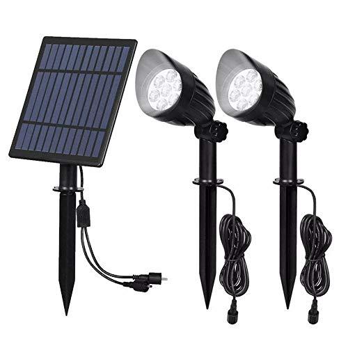 Decorativa Iluminación de paisaje Luz LED 5W-controlado 2 en 1 funcionan con energía solar Luz de grama impermeable al aire libre Patio pared del paisaje, luces Lampsa