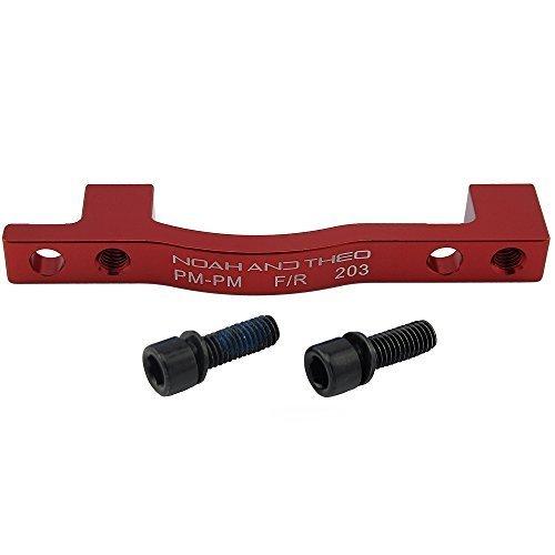 Aluminium Legierung 6061 Bremse, Adapter vorne 203 mm Post Mount/PM Gabel zur Post Mount/PM Bremssattel rot kompatibel mit allen Marken wie Shimano, Tektro, Hope, Promax, Avid, Formula