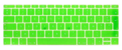 Easy to use UK EU French Silicone Keyboard Cover Skin For MacBook New Pro 13' A1708 (2016 Version,No Touch Bar) for 12' A1534 Retina Keybaord Skin Protector (Color : Green)