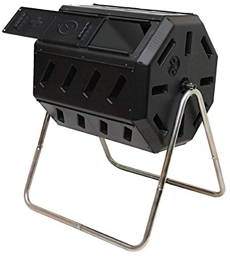 Purchase FCMP Outdoor IM4000 Tumbling Composter, 37 Gallon, Black (Renewed)