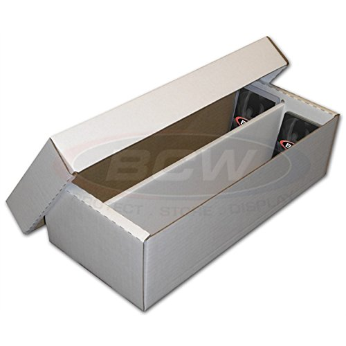 BCW 1600-Count 2-Row Shoe Storage Box for Trading Cards | 200 lb. Test Strength | (2-Pack)