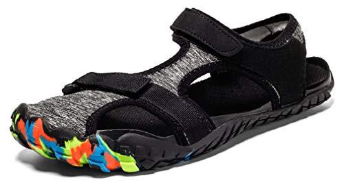 Hsyooes Strandsandalen Barfußschuhe Herren Damen Sommer Outdoor Geschlossene Sandalen Weich Wasserschuhe Atmungsaktive Rutschfest