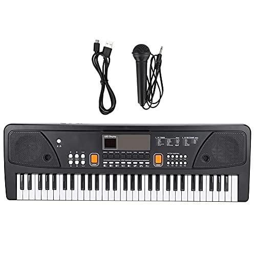Juguete musical, piano electrónico portátil, 430A1 (37 teclas) / 630A1 (61 teclas) para ejercitar el sentido del ritmo del niño para una mejor calidad de sonido(630A1 English version (61 keys))