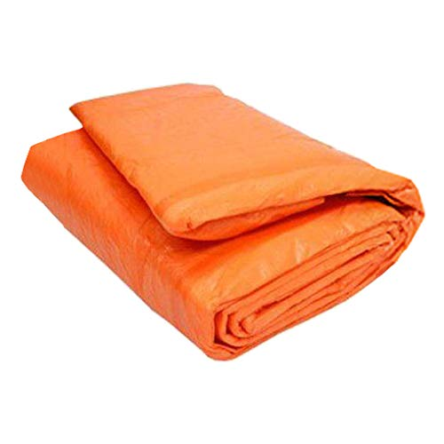 12' x 24' Concrete Curing Blanket - 3/16' Thick PE Coated Foam Core - Ultra Strong 8x8 Woven Poly Tarpaulin - Orange