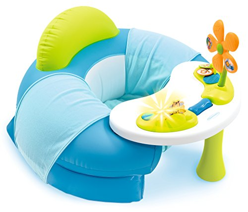 Smoby - Cotoons Cosy Seat Bleu - Siège Gonflable + Tablette