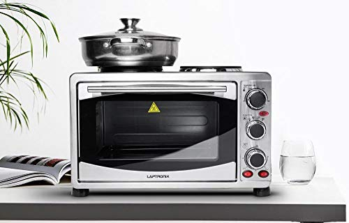 Laptronix 30L Mini Oven With Electric Hob Double Hotplate & Grill Baking Cooking