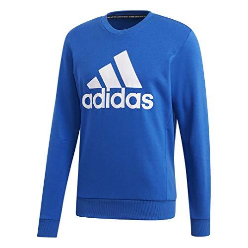 adidas Sudadera Deportiva para Hombre con Insignia de Must Haves, Hombre, Suéter, FSD52, Azul / Blanco, L