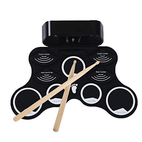 Qinmo Drum Pad electrónico, grupo de percusión electrónicos portátiles, Práctica del tambor...