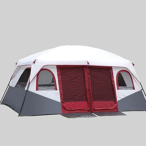 MWKL Carpa para Acampar para 8-12 Personas Carpa Familiar de Doble Capa al Aire Libre Carpa para cabaña portátil Protección Solar Refugio para Acampar al Aire Libre Senderismo Pesca
