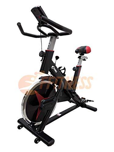 FLY SPIN 15 | Spinning bike con volano da 15 kg | Spin bike Bicicletta professionale per allenamento dimagrante, forza, resistenza | Cyclette SpinBike con Display LCD