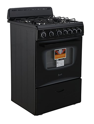 AVANTI GR2415CB Gas Range Sealed Burners, 24', Black