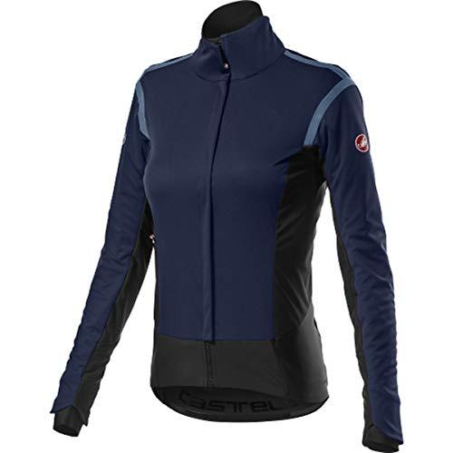 castelli Alpha Ros 2 W Jacket, Giacca Sportiva Donna, Savile Blue, M