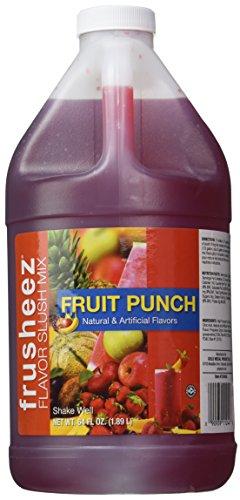 Frusheez Fruit Punch Slush and Slushie Mix, 1/2 Gallon