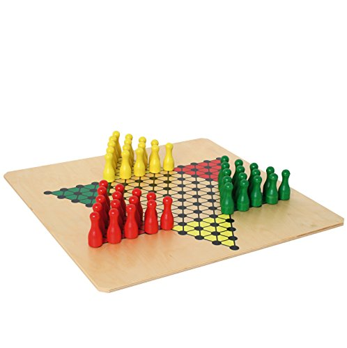 Bartl 107351 Brettspiel Halma groß aus Holz XXL Format 50cm x 50cm