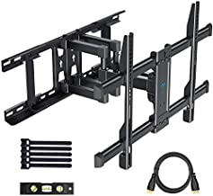 PERLESMITH Full Motion TV Wall Mount Bracket with Tilt Swivel Extension Articulating Arms, Fit 16-24 inch Wood Stud for Most 37-70 inch LED, LCD, OLED, Flat Curved TVs up to 132lbs Max VESA 600x400mm