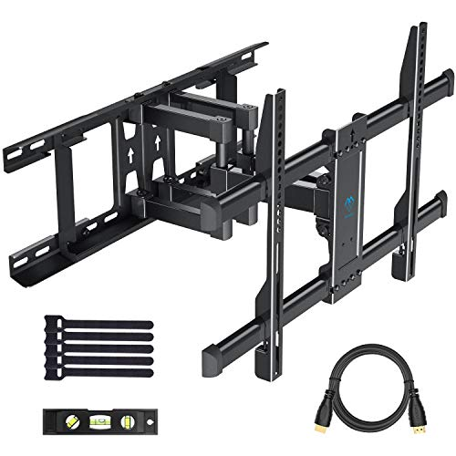 PERLESMITH Full Motion TV Wall Mount Bracket with Tilt Swivel Extension Articulating Arms, Fit 16-24...