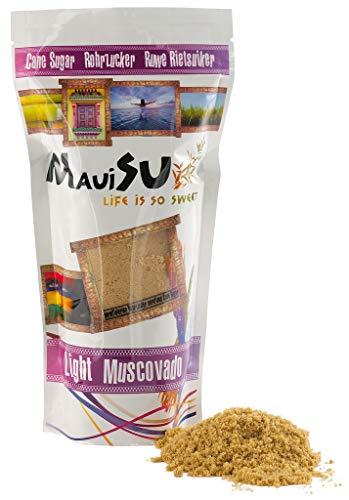 MauiSu - Light Muscovado Rohrzucker - 500g - unraffinierter Rohrzucker - naturbelassen und beste Qualität