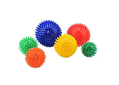 Egelbal set van 6, massagebal, noppenbal, egelballen
