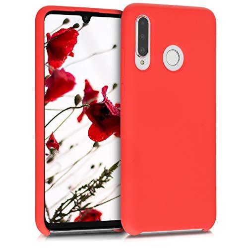 kwmobile Custodia Compatibile con Huawei P30 Lite - Cover in Silicone TPU - Back Case per Smartphone - Protezione Gommata Rosso Matt