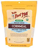 Bob's Red Mill Organic Medium Grind Cornmeal, 24 Ounce (Pack of 1)
