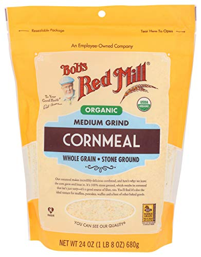 Bob's Red Mill Organic Medium Grind Cornmeal, 24 Ounce (Pack of 1)