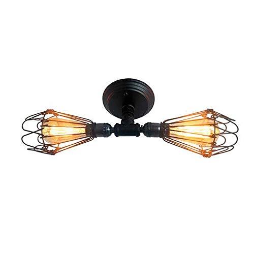 XLTT Lámpara de pared de bronce con aceite industrial, lámpara de pared de hierro envejecido, lámpara de pared decorativa para baño, sala de estar y más