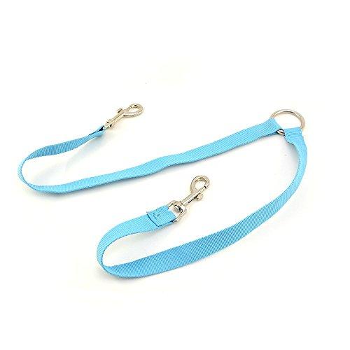 4yourpet Koppellijn of koppelstuk voor 2 honden, lichtblauw