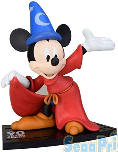 Figura Estatua Mickey Mouse Fantasia 23 cm Sega Super Premium SPM Japón Disney Aniversario de Mickey Mouse 90 años Escoba mágica