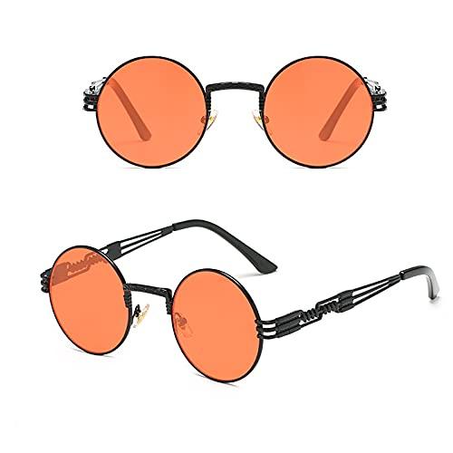APCHY Gafas De Sol Redondas Pequeñas De Moda para Hombres Y Mujeres UV400 Marco De Metal Gafas Retro Estilo Hippie De John Lennon,N
