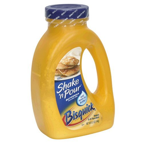 Bisquick Shake'N Pour Buttermilk Pancake Mix, 5.1- ounce Containers (Pack of 6)