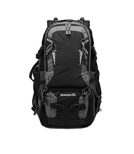 YHDQ Outdoor bergbeklimmer tas, ademend waterdicht, fietstas, 35L rugzak, regenhoes, grote capaciteit reistas stijlnaam size Zwart