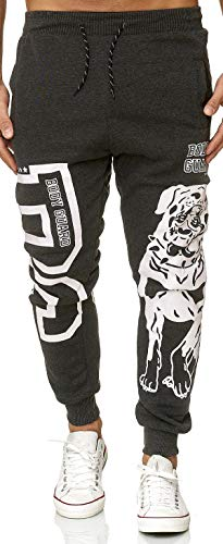 XRebel Kinder Junge Jogging Hose Jogger Streetwear Sporthose Modell W28 (Dunkel Grau, Gr.10(128~134))