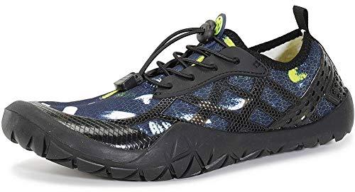 Gaatpot Escarpines de Surf para Mujer Hombre Zapatos de Playa Zapatos de Agua Barefoot Deporte Secado Rápido Yoga Aptitud Aire Libre Azul Oscuro 42EU