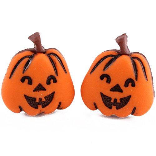 TFB–Happy Halloween Evil Kürbis Gesicht Ohrstecker