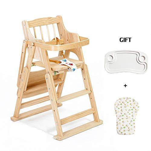 Eetkamerstoel, massief hout, multifunctionele kinderverstelbare telescoop, comfortabele kruk, voor thuis D