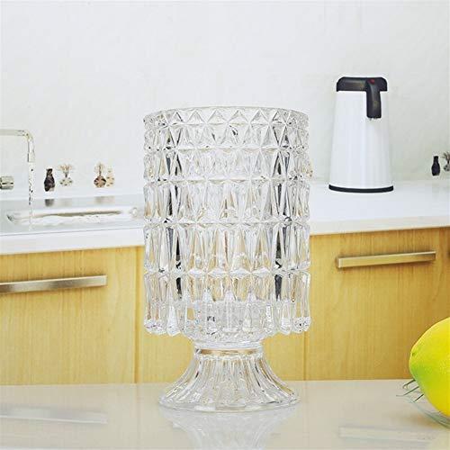 ZHNA Arts de la Table Support de Rangement, Verre Creative européenne Multifonctions Chopstick Tube, Table de Cuisine Rangement Chopsticks cuillère Tube de Rangement 18.2x9.1x10.4cm