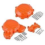 LIWIN-Moto Accesorios Bomba de agua Guardia embrague tapa de encendido protector For KTM SX XC XCW XCW TPI Seis Días for Husqvarna TE TC TX 250 300 250i 300i (Color : Orange)