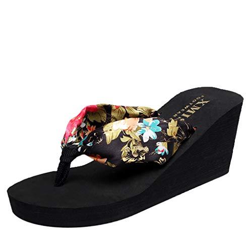 VECDY Damen Sandalen Herren Schuhe Sommer Frauen Flip-Flops Hausschuhe Wedge Beach Anti-Slip Bosmia Shoe Post Slipper Schuhe Anziehen 35-39