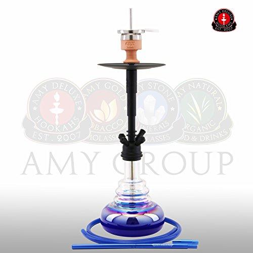 Amy Deluxe Big Cloud R 061R Wasserpfeife Shisha Hookah (Mattschwarz-Blau)