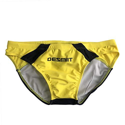 (リッキー&ベンズ) Ricky&Bens メンズ 水泳パンツ スプライス 競パン (Mサイズ|Asia Tag M(waist:70-80cm), イエロー)