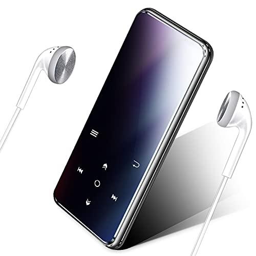16 GB MP3 Player,Mibao MP3-Player mit Bluetooth 4.0, Musik-Player mit FM-Radio,Aufnahme, 2,4-Zoll-Bildschirm, verlustfreier HiFi-Sound, Bis zu 64 GB Erweiterung (Kopfhörer, Sportarmband inbegriffen)