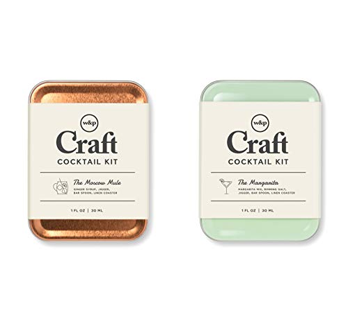 W&P Mule and Margarita Craft, Moscow Mule & Margarita, Portable Drinks on the Go, Carry On Cocktail Kit, Makes A Gift, Set of 2