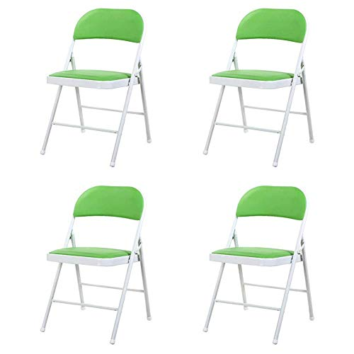 WSDSX Freizeitstühle Klappstühle Starker Stahlrahmen Rückenlehne Tischstuhl PU Sitz Büro Empfangsstuhl Platz sparen Leicht zu reinigen Langlebig stark