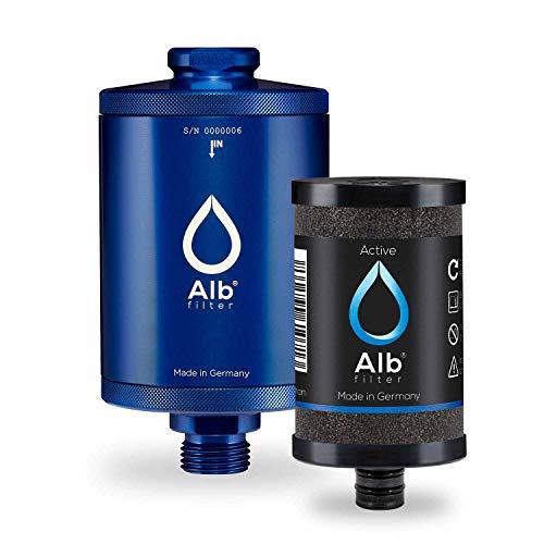 Alb Filter® Active Trinkwasser-Filter reduziert Schadstoffe, Schwermetalle, Mikro-Plastik. Made in Germany Blau