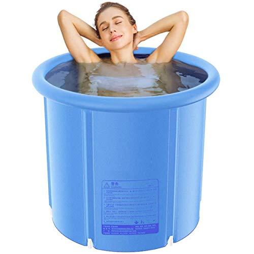 GJNWRQCY Schwimmbarer aufblasbarer Badebecken Planschbecken Whirlpool, Klappfass Erwachsene aufblasbare Verdickung,L