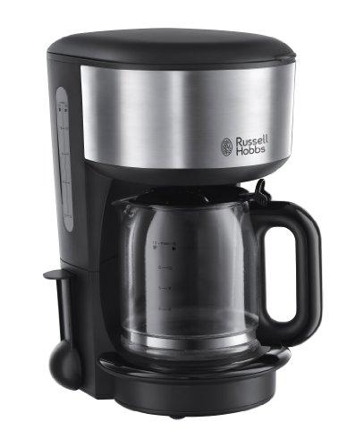 Russell Hobbs 20130-56 Oxford - Cafetera de filtro, jarra de cristal con capacidad de 1,25 l, placa calefactora