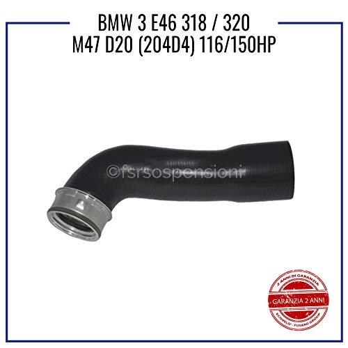 COMPATIBILE CON B M W 3 E46 3.18 3.20 M47 D20 MANICOTTO INTERCOOLER TUBO TURBO 11617799397 11617791393