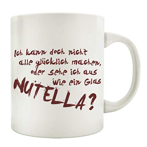 Interluxe Tasse Kaffeebecher ICH KANN DOCH Nicht ALLE GLÜCKLICH Machen Lustig Nutella